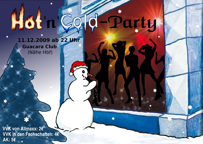 Plakat der Winterparty